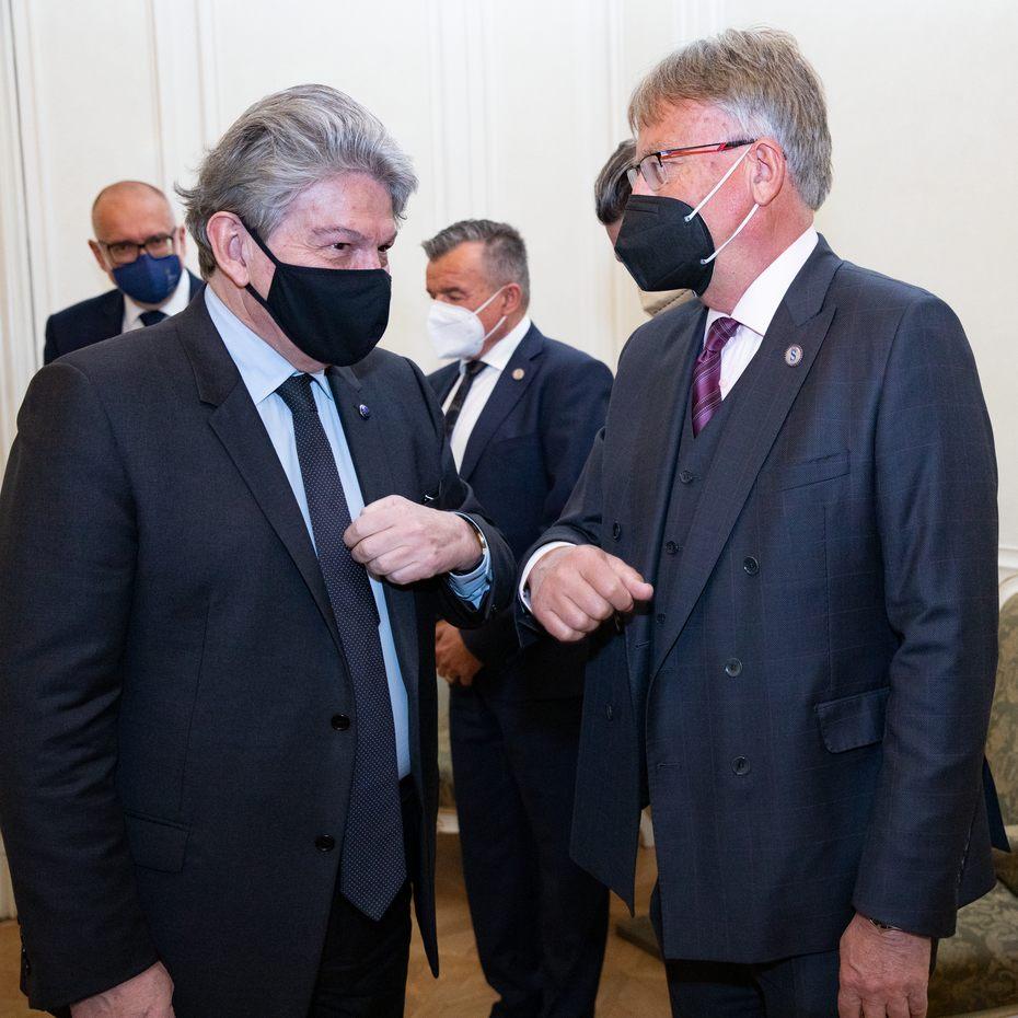 Člen Evropské komise Thierry Breton v Senátu ČR
